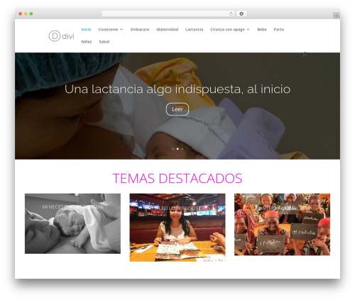 Divi best WordPress template - mamibluemoon.com