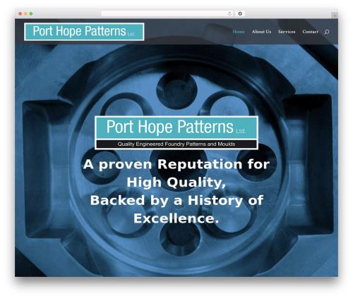 Divi WordPress theme - porthopepatterns.com