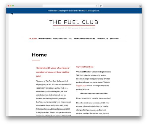 Drento free WordPress theme - thefuelclub.com