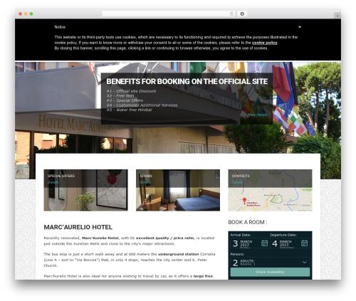 Hotec WordPress theme - hotelmarcaurelio.com