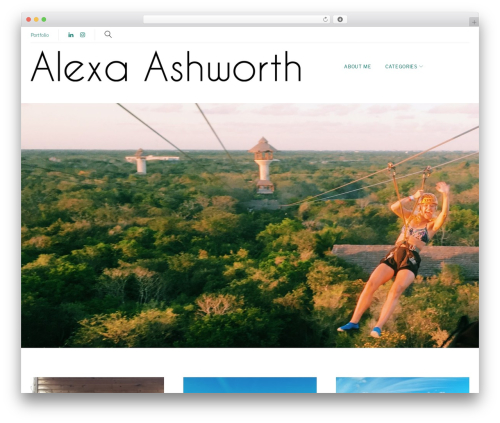 Monstroid2 Lite WordPress theme - alexaashworth.com