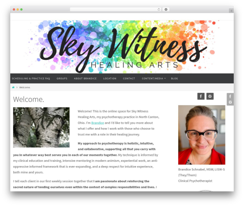 Nirvana theme WordPress - skywitnesshealingarts.com