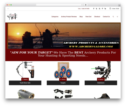 PBTheme v3.1.5 WordPress website template - archerygalore.com