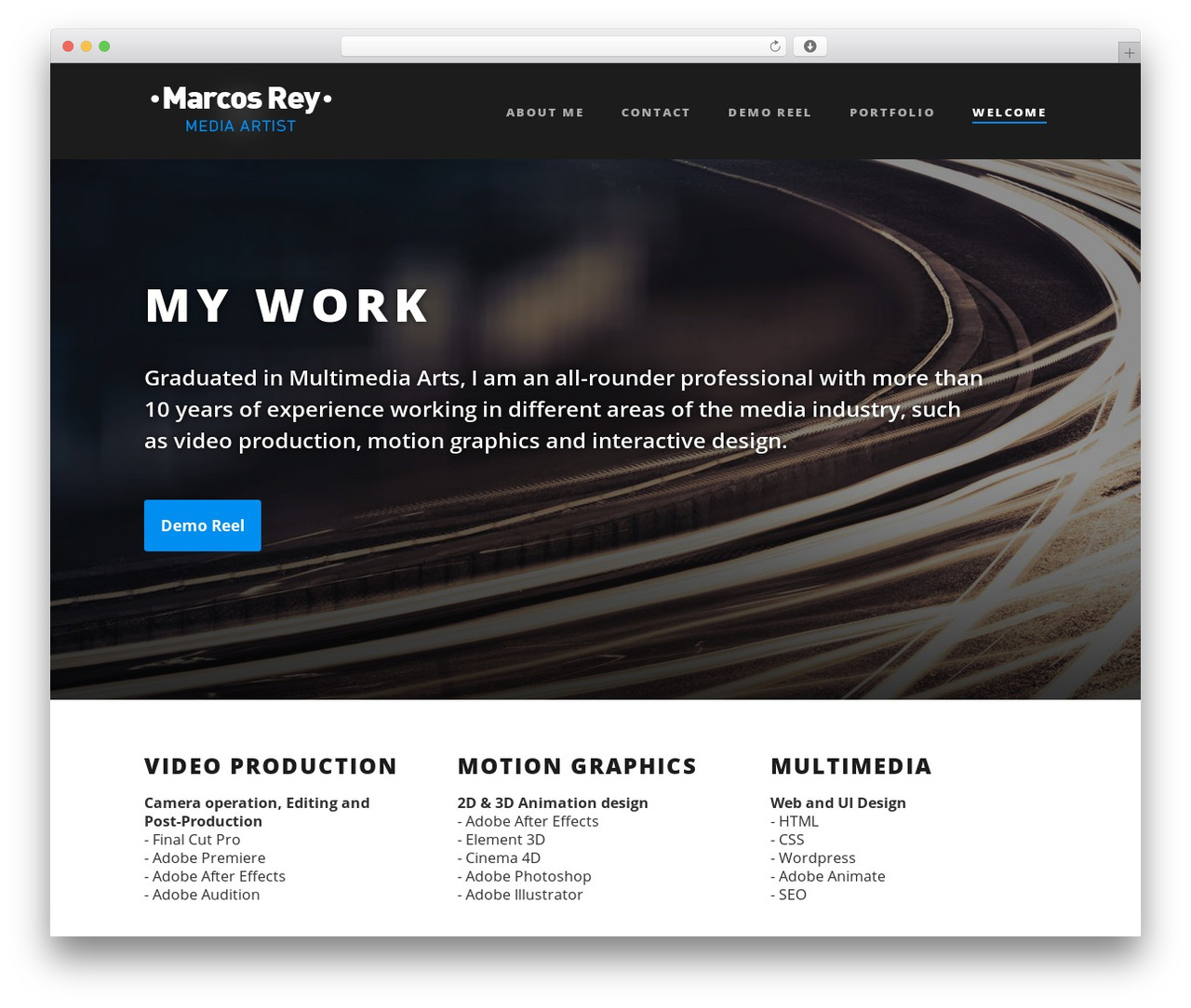 Suite WordPress page template - reymarcos.com