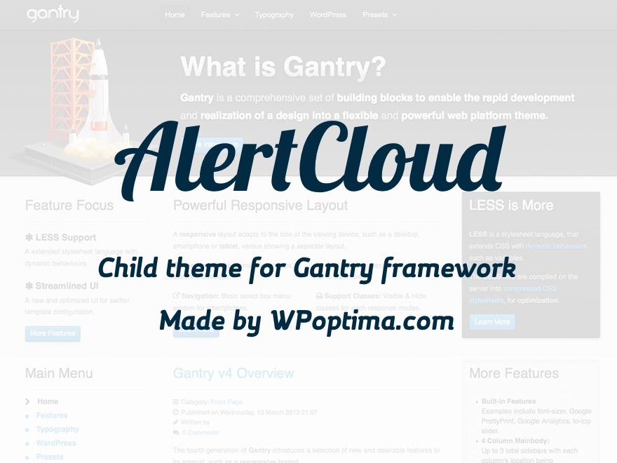 Theme WordPress AlertCloud by WPoptima com