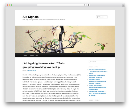 Twenty Eleven free WordPress theme - alksignals.com