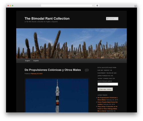 Twenty Eleven WordPress template free - bimodalrant.com