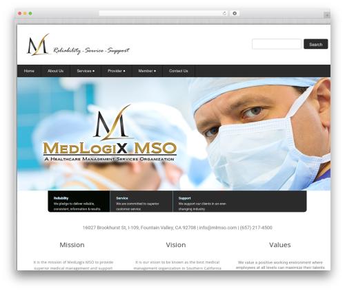 WordPress template Health-Center-Pro - medlogixmso.com