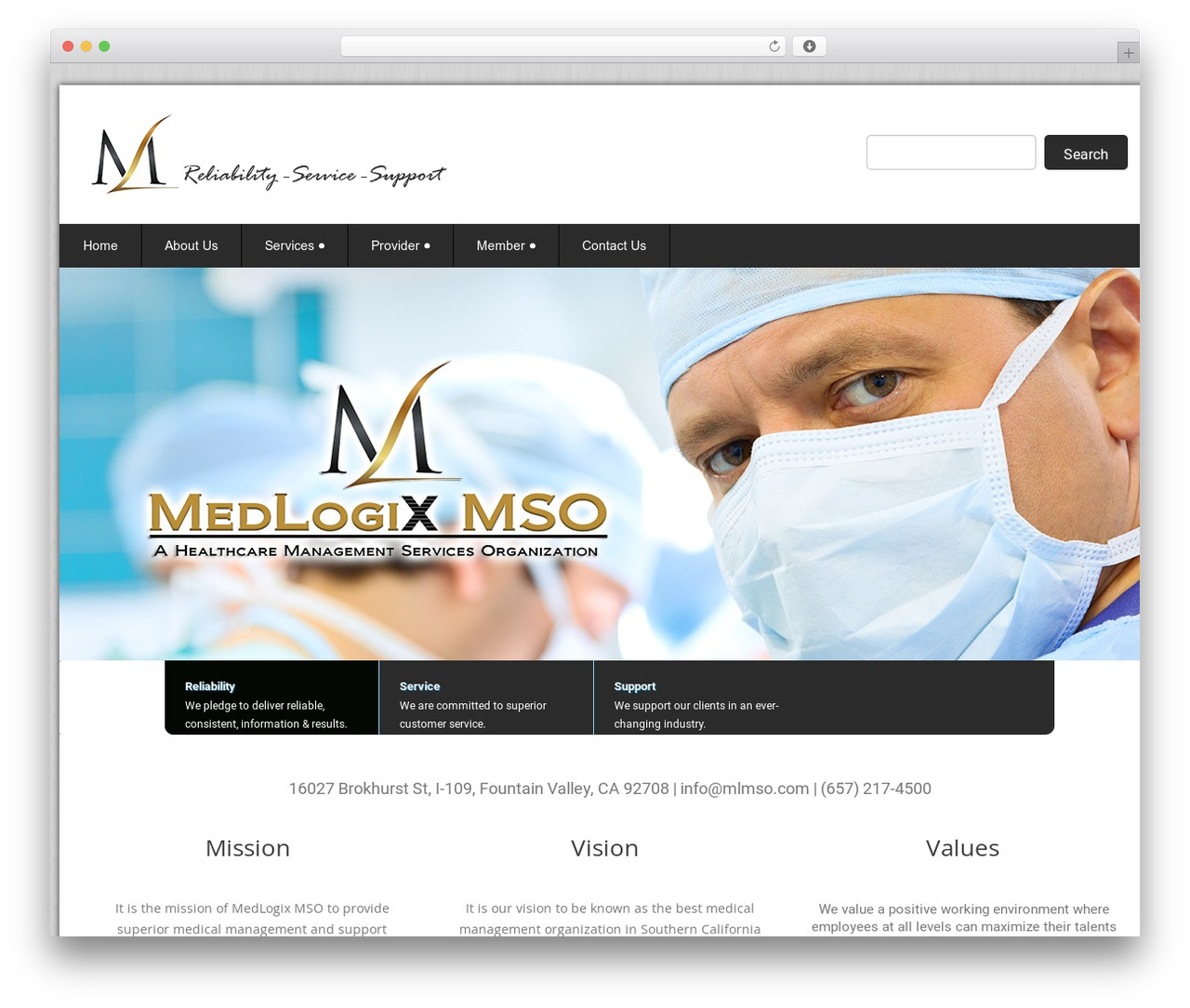 WordPress template Health-Center-Pro - medlogixmso.com