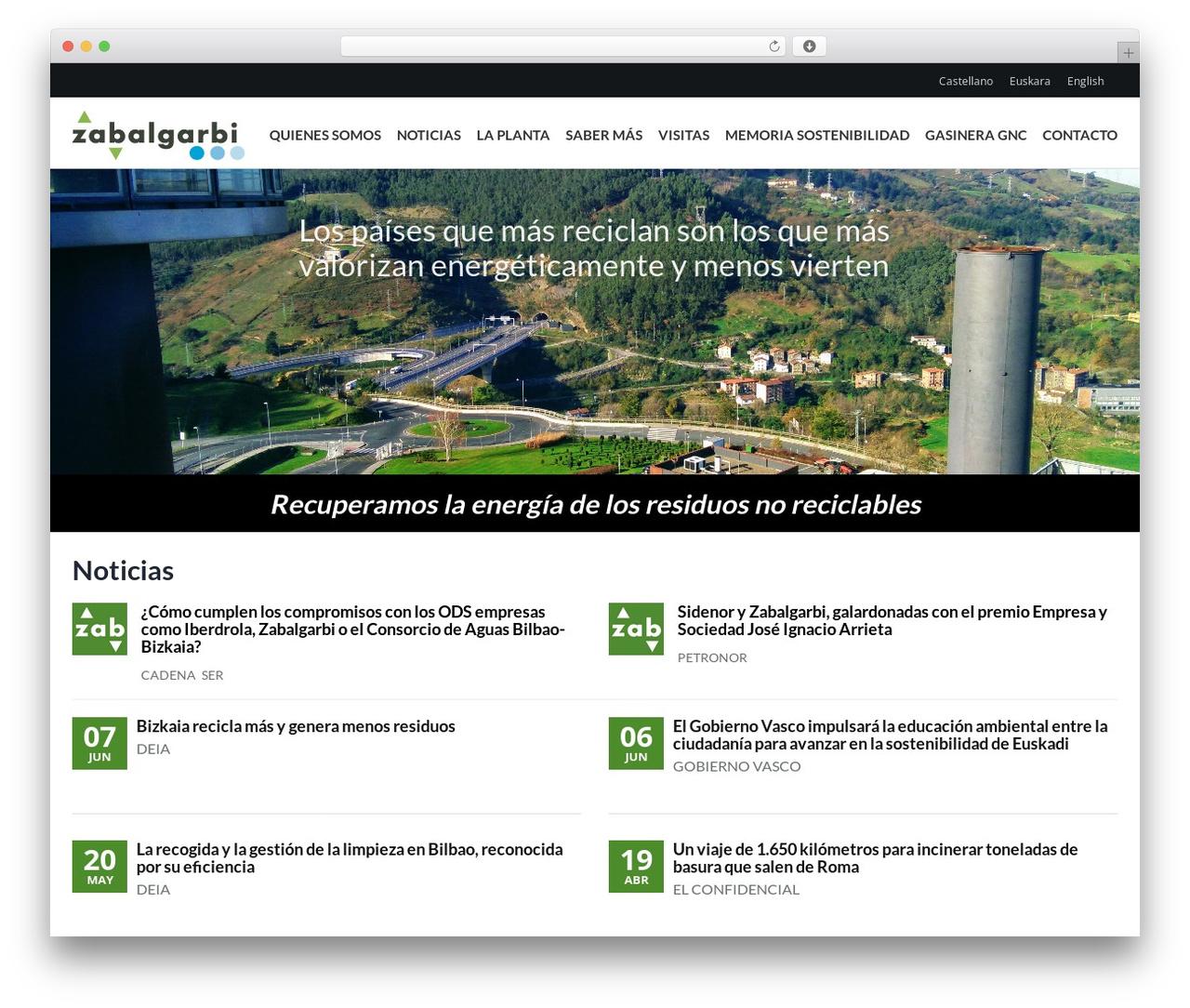 WordPress theme Elite - zabalgarbi.com