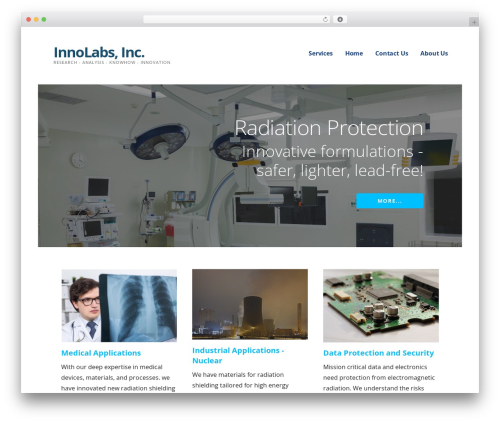 WordPress website template Ascension - innolabsinternational.com