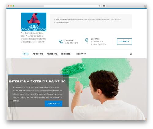 WordPress website template Reneva - amroconstruct.com
