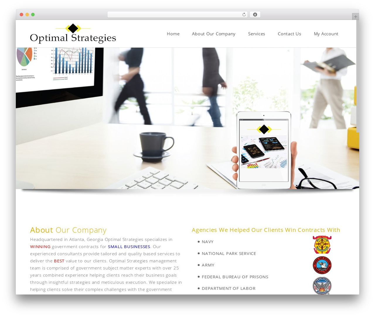 WordPress website template Satellite7 - optimalstrat.com