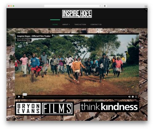 WordPress website template X - inspirehopefilm.com
