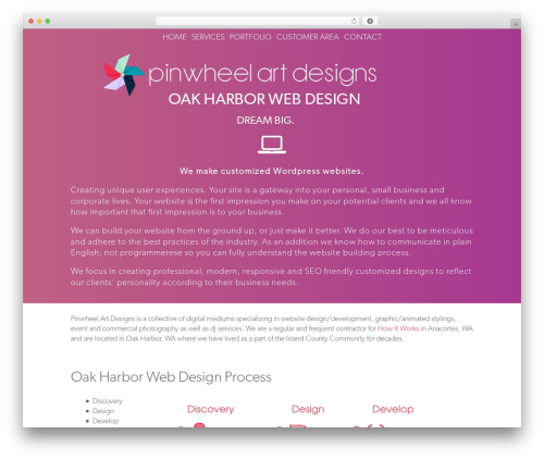 WP Champion business WordPress theme - oakharborwebdesign.com