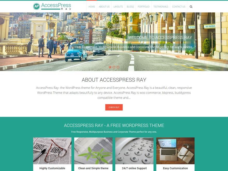 AccessPress Ray Child premium WordPress theme