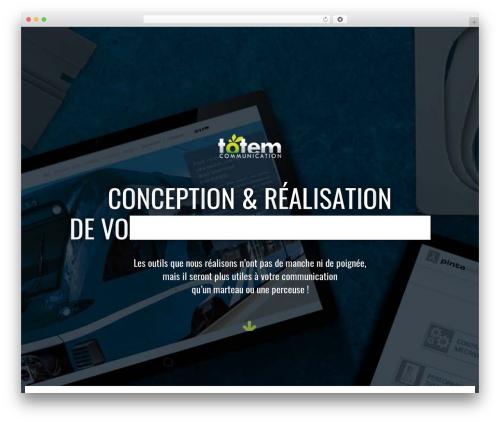 Best WordPress template Avada - totemcommunication.com