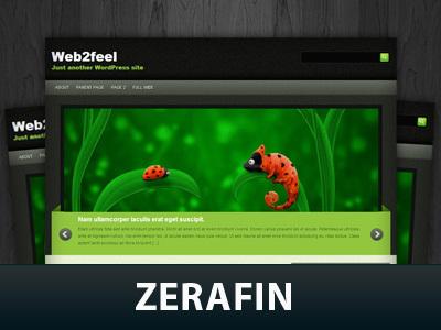 Best WordPress template Zerafin