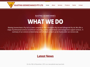 Blasting Geomechanics WordPress theme