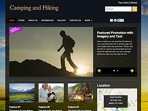 Camping & Hiking WordPress theme design