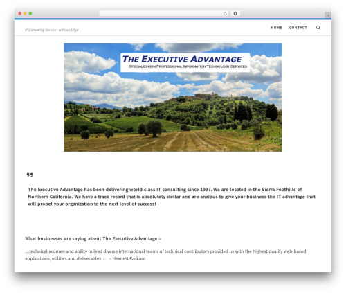 Customizr best free WordPress theme - theexecutiveadvantage.co