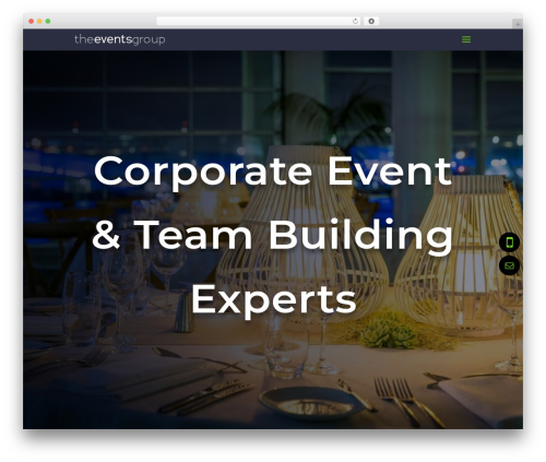 Divi company WordPress theme - theeventsgroup.co.nz