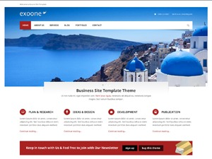 Exoone company WordPress theme