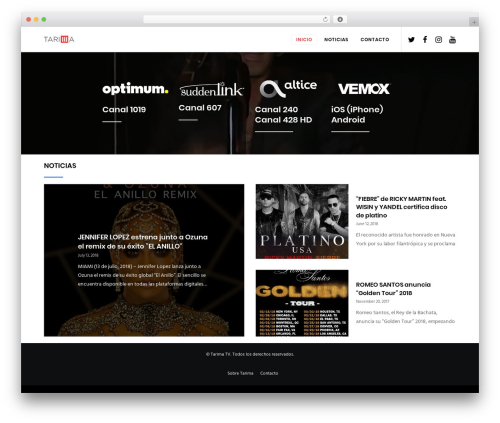 Movedo WordPress theme - tarima.tv
