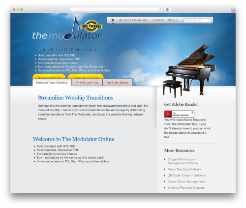 MyProduct WordPress theme - themodulatoronline.com