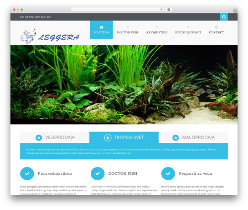 Nictitate WordPress theme - tropski-svet.co.rs