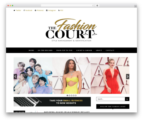 Noir theme WordPress - thefashion-court.com