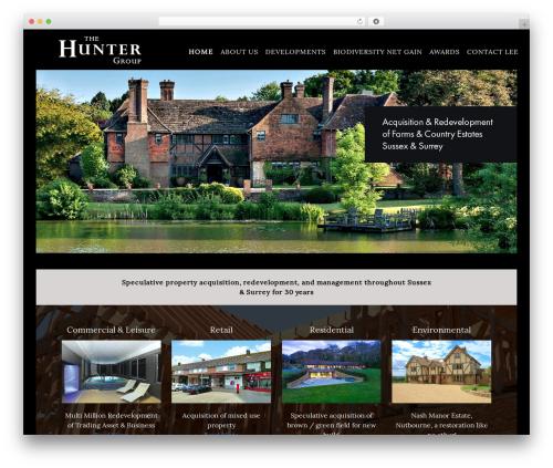 Parallax Pro Theme WordPress page template - thehuntergroup.co.uk