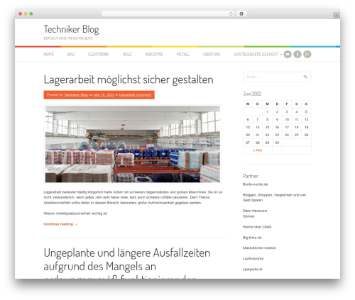 Patus best WordPress theme - techniker-blog.de