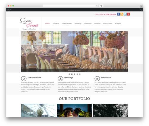 pump WordPress wedding theme - thetopevent.com