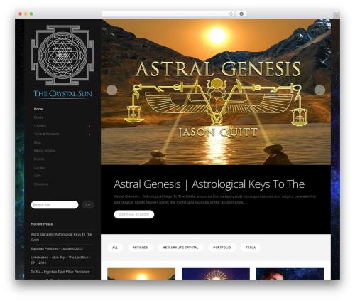 Showcase best WordPress theme - thecrystalsun.com