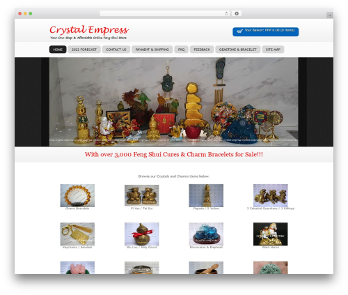 SOFA SuppaStore WordPress ecommerce template - thecrystalempress.com