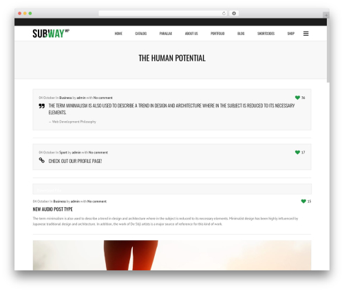 Subway WordPress theme - thehumanpotential.com