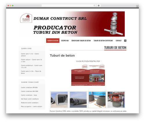 Tesla free WordPress theme - tuburidebeton.ro