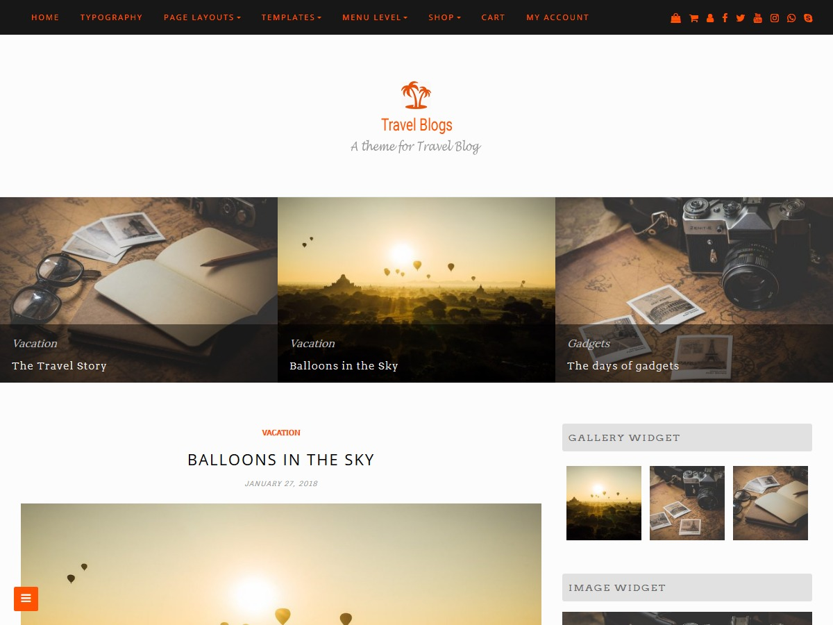 Travel Blogs WordPress theme image