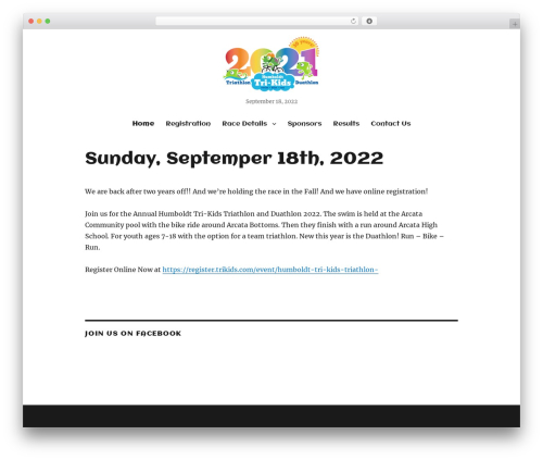 Twenty Sixteen WordPress theme - trikids.com