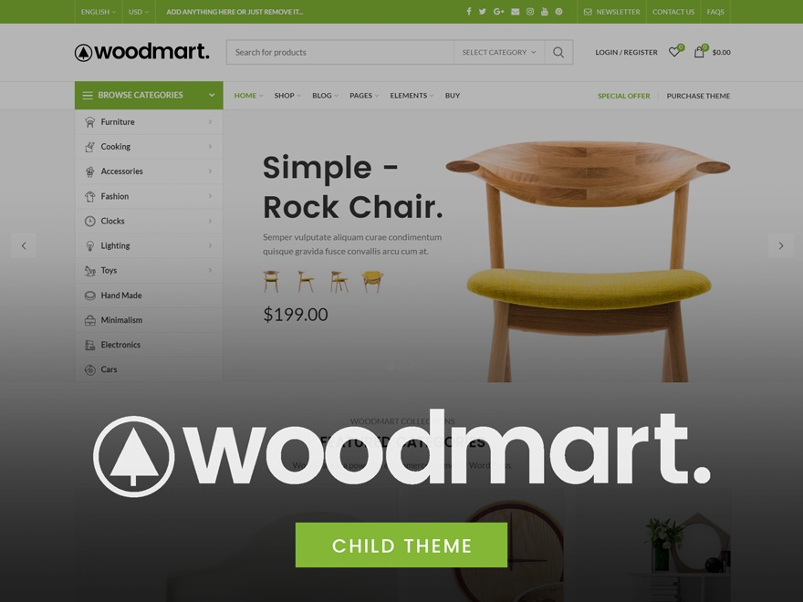 Woodmart Child WordPress website template