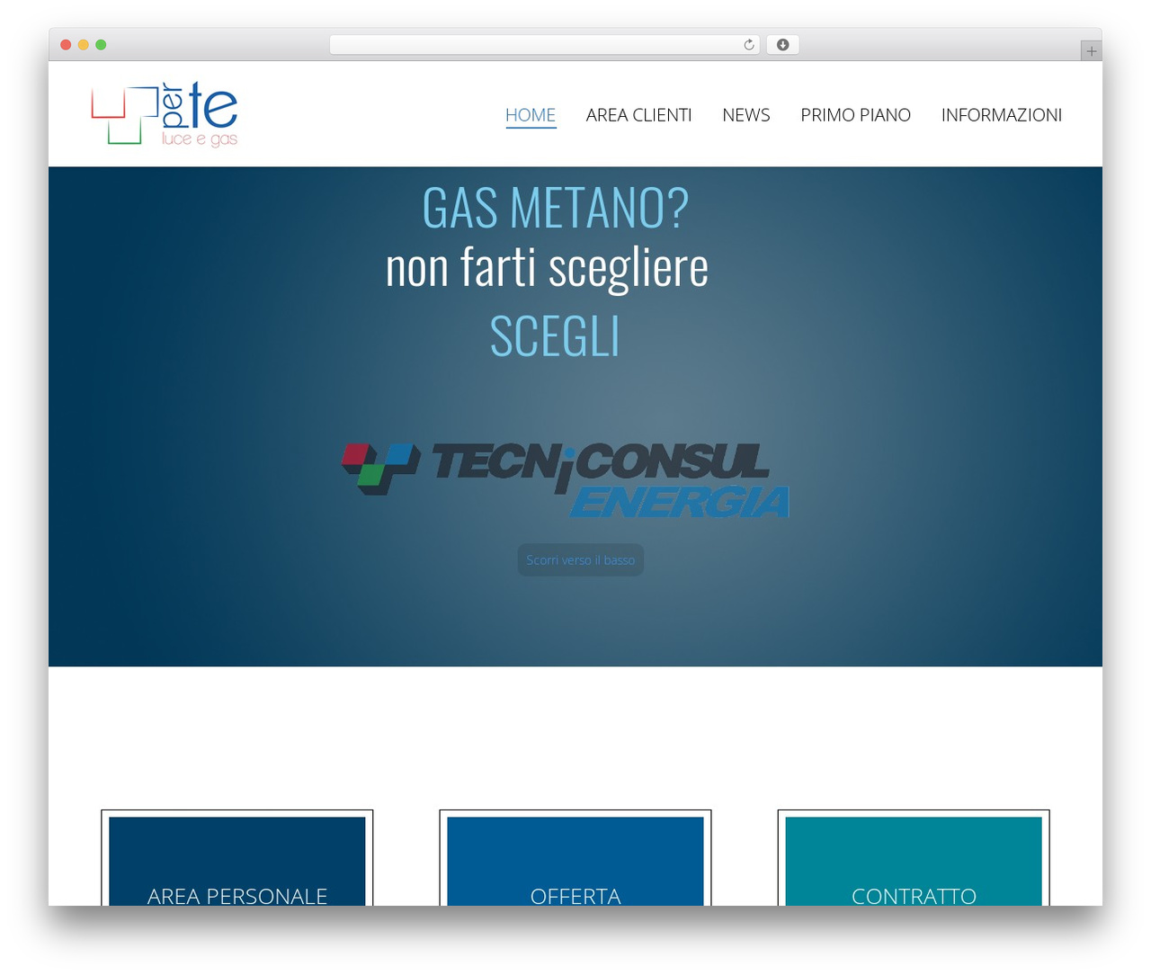 WordPress theme Armada - tecniconsulenergia.it