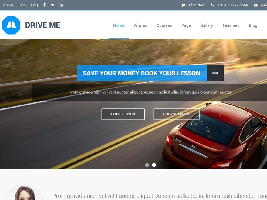 WordPress theme DriveMe