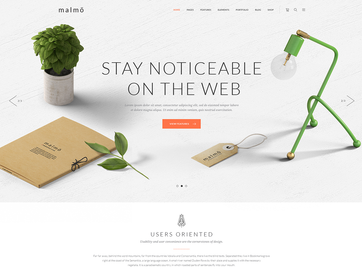 WordPress theme Malmo