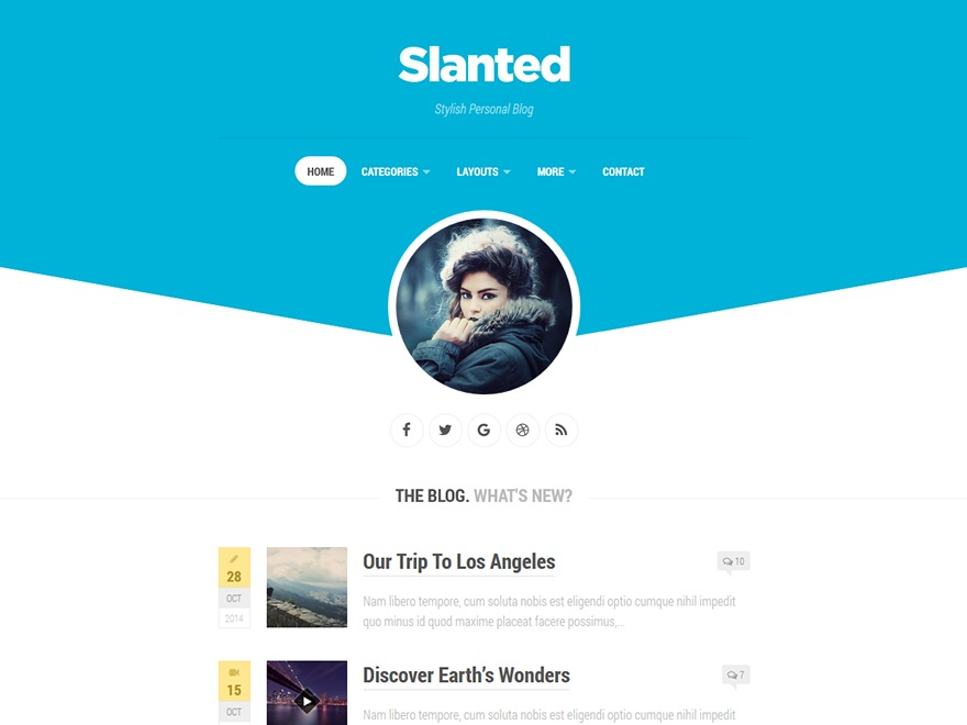 WordPress theme Slanted