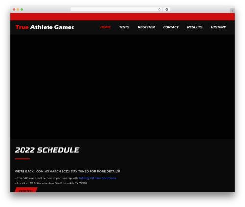 WP theme SportCenter - trueathletegames.com