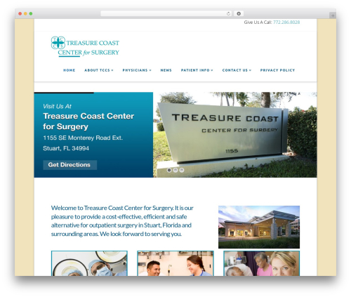 X premium WordPress theme - treasurecoastcenterforsurgery.com
