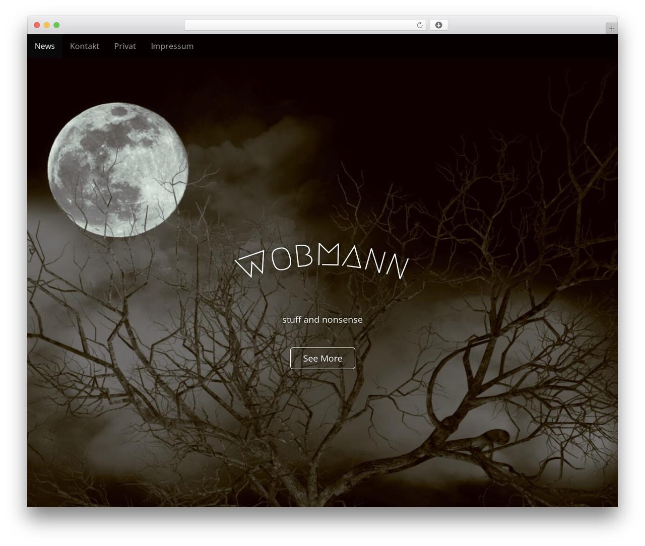 Arcade Basic WordPress theme - wobmann.com