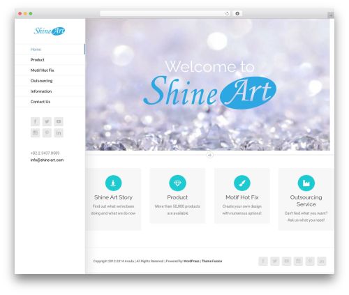 Avada WordPress theme - shine-art.com
