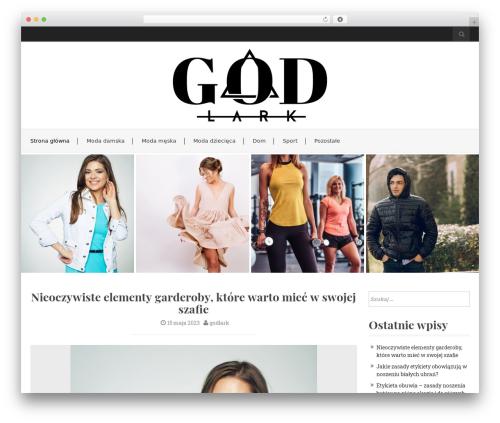 Best WordPress template Flat White - godlark.com